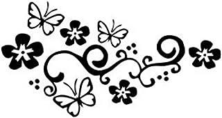 VORCOOL 2 Stück Schmetterling und Blume Autoaufkleber Auto Tattoo