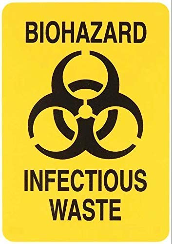 FJAR8 Biohazard Infectious Waste Indoor/Outdoor Use Warning Sign 30x40 cm Quarantine Sign Metal Sign Tin Sign
