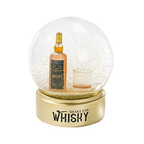 Talking Tables Whisky-Schneekugel, Glas, Vatertagsgeschenke für Ihn, 12 cm