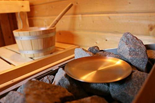 Sauna Kräuterschale Verdampferschale Edelstahl Aufguss mit Kräuter/Aroma - Bio Aufguss mit Kräuter - Auch Ideal für Mentholkristalle, Muster: Kräuterschale