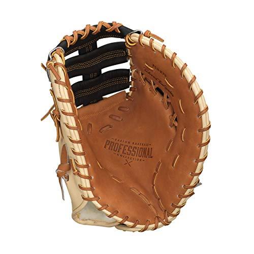 "EASTON PROFESSIONAL HYBRID First Base Baseball Glove | 2020 | Left-Hand Throw | 12.75"" | First Base Mitt | Dual Bar Single Post Web | Hybrid USA + Japanese Steer Hide Leather Construction | PCH-K70"