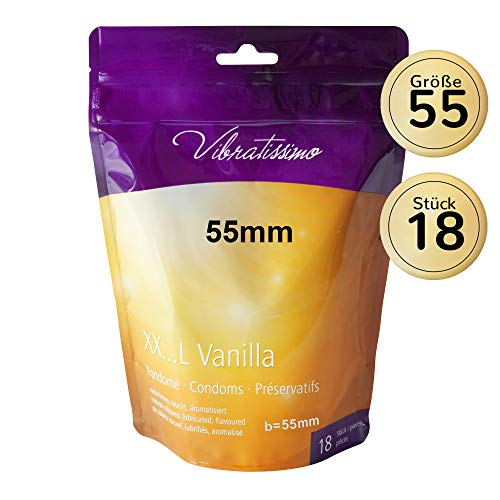 Vibratissimo Markenkondome, 18 XXL-Kondome 55mm
