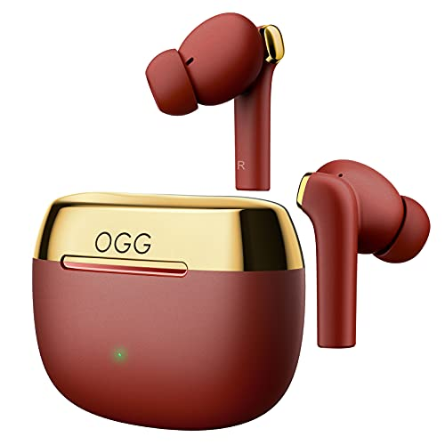 OGG K6 Wireless Earbuds ANC Bluetooth 5.0 Earphones, Excellent Sound Quality Wireless Noise Reduction Earphones, with Active Noise Reduction Function, Smart Touch for Clear Calls