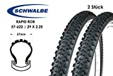 2 Stück 29 Zoll Schwalbe Rapid Rob 57-622 Fahrrad MTB Reifen 29x2.25 Tire Mantel KevlarGuard Pannenschutz