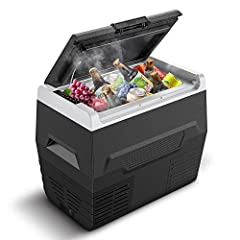 CALMDO CD-F35L Skrzynka chłodząca elektryczna Kompresor Mini lodówka Samochód Cooling Box, 35 litrów pojemności, 12/24 V Przenośny do samochodu, ciężarówki, łodzi, gniazda, klasa zasilania A +