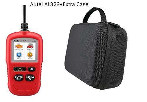 Autel AL329 Code Reader With Case (Advanced version of the AL319 OBD2 Scanner) Engine Fault CAN Scan Tool with Patented One-Click I/M & AutoVin