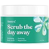 ASUTRA Dead Sea Salt Body Scrub Exfoliator (Purifying Peppermint), 12 oz | Ultra Hydrating, Gentle, & Moisturizing | All Natural & Organic Jojoba, Sweet Almond, & Argan Oils