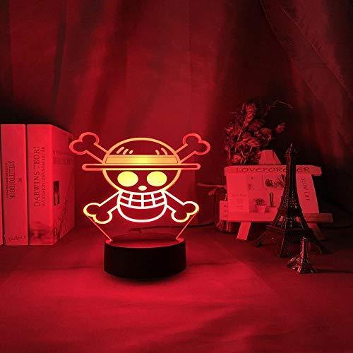 Anime EIN STÜCK Kinder Nachtlicht Led Touch Sensor Buntes Nachtlicht für Kinder Schlafzimmer Dekoration Cool Desk 3d Lampe Geschenk