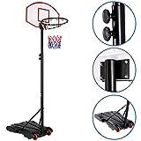 Sportana Panier de Basket sur Pied avec roulettes réglable Hauteur 179 à 209cm Mobile Jeu...