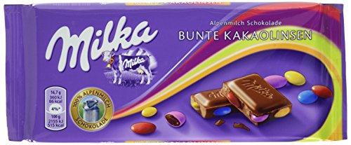 Milka Bunte Kakaolinsen, 5er Pack (5 x 100 g)