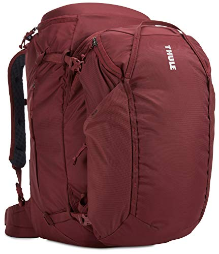 Thule Landmark 70 litri Zaino femminile da viaggio ideale per escursioni, Rosso
