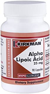 Alpha Lipoic Acid 25 mg Capsules - Hypo - 90 ct