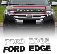 WQSNUB 車の3Dメタルレターフードエンブレムバッジカーステッカースタイリングカーアクセサリー言葉遣い3Dレター、フォードエッジECGE用