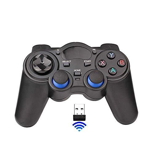 HZL Windows XP / 7/8/10 para PC, computadora portátil, PS3 2.4G WiFi TV Box Controlador de Juegos con Joystick USB, Controlador