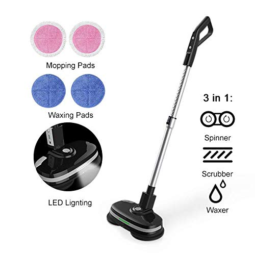 Mamibot Cordless Electric Mop Dual Spin Mopping Polisher 3-in-1 Scrubber Waxer...