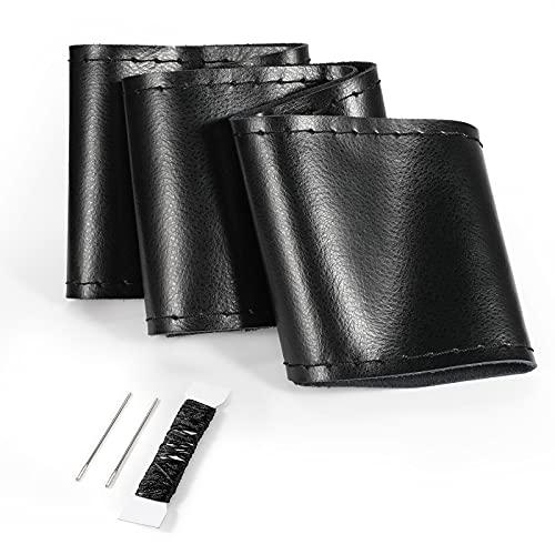 COFIT - Funda para Volante para Coser, Coser en el Abrigo Suave Tacto Cuero avanzado en Estilo de Bricolaje Cosido a Mano, Ajuste Universal Auto Car con 37-38cm de diámetro Exterior, Negro