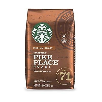 Starbucks Medium Roast Whole Bean Coffee — Pike Place Roast — 100% Arabica — 1 bag (12 oz.)