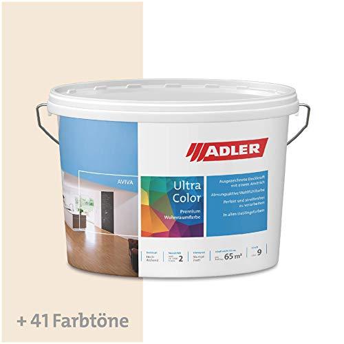 ADLER Ultra-Color Wandfarbe - Volltonfarbe und Abtönfarbe in 100+ Farbtönen - Atmungsaktiv, Hochdeckend, Lösungsmittelfrei - Beige - 3L