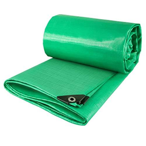 QIAOH Lona Impermeable Reforzada con Ojales De Acero Inoxidable 3 * 3m, Toldo Impermeable para Leña Y Objetos De Jardín, Vehículos, Protección contra UV,Verde