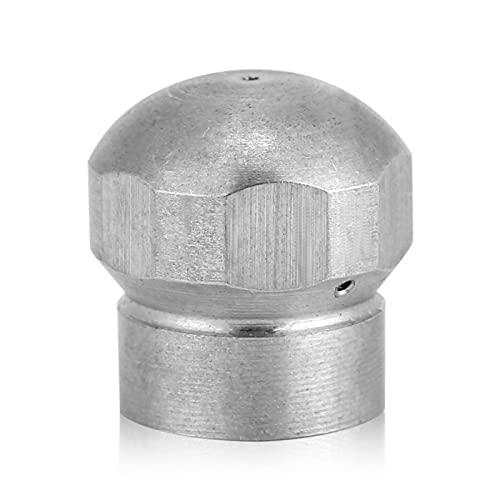 LIXIAONMKOP G1 / 8 '' Lave-linge haute pression de nettoyage de la buse de nettoyage de la buse d'égout de tuyau d'égout avec trous de pulvérisation