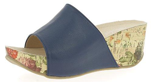 Andrea Conti Damen 1545707 Keil-Pantoletten, Größe:40 EU, Farbe:dunkelblau