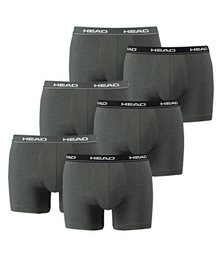 HEAD Herren Boxershorts 841001001 6er Pack, Wäschegröße:M;Artikel:grau/schwarz/weiß