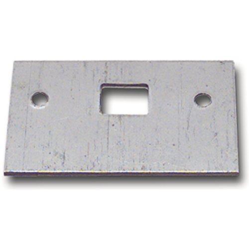 Reparaturschließblech für Einlegstange gerade, 53 x 33 mm, Stahl verzinkt | Fensterverschluss Zubehör