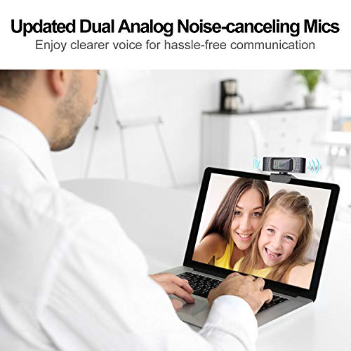 Webcam mit Abdeckung HD 1080P Autofokus Web Kamera Pro Stream USB Webcam Streaming Xbox PC Kamera mit Mikrofon für Skype Facebook und YouTube