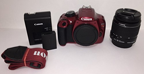 Canon EOS Rebel T5 Digital SLR Camera Kit with EF-S 18-55mm is II Lens - Red