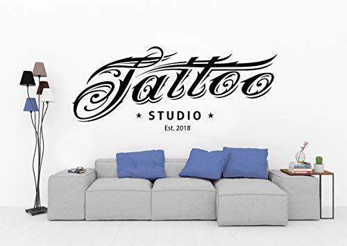 Etiqueta engomada de la pared del vinilo del logotipo del tatuaje Logotipo del tatuaje Salón Tatuaje Tienda Sala de juegos Etiqueta de la pared