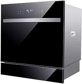 GJJSZ Lavavajillas de encimera Compacto - Lavavajillas Empotrado Energy Star Interior de Acero Inoxidable 304 para oficinas pequeñas y Restaurante de Cocina Familiar - Negro