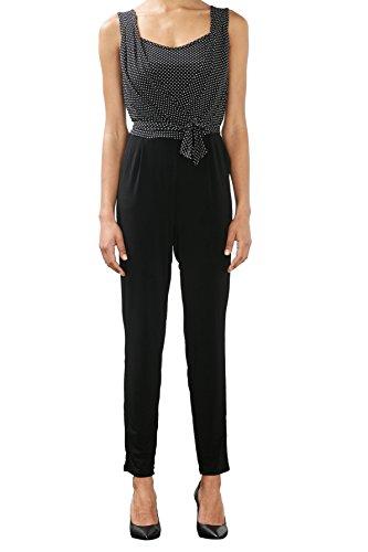 ESPRIT Collection Damen 027EO1L002 Jumpsuits, Schwarz (Black 2 002), 42 (Herstellergröße: XL)