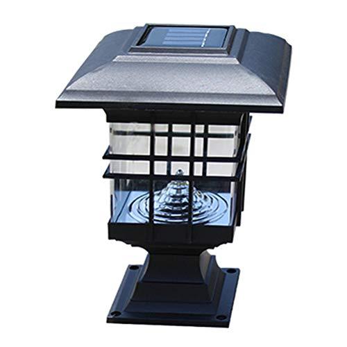 HEITIGN Luces Solares Del Pilar, Lámpara Impermeable De Cerca Lámpara Columna Solar Al Aire Libre, Lámpara Decorativa Al Aire Libre Pilar Lámpara Principal Patio Columna Patio, Luz Blanca
