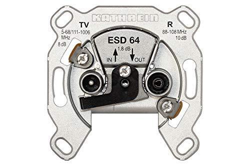 Kathrein ESD 64 Kabelnetz-Durchgangsdose (TV-/FM-Anschluß)