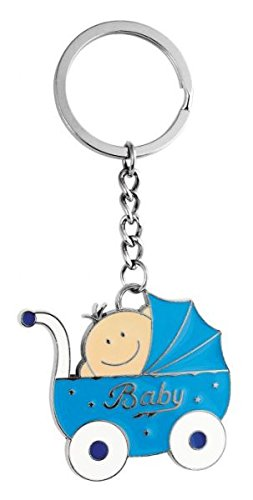 Ten Llavero Cochecito Azul bebé cod.EL5604 cm 10x4,5x0,5h by Varotto & Co.