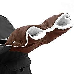 Kinderwagen Handschuhe, Baby Kinderwagen Handwärmer Buggy Handschuhe Handmuff Universalgröße - Braun