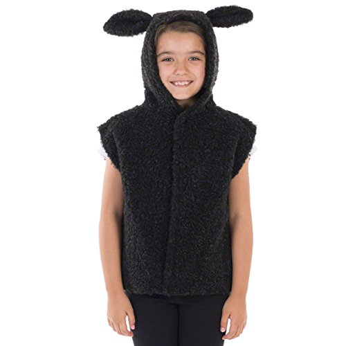 Charlie Crow Baa Baa - Disfraz de cordero/oveja, color negro