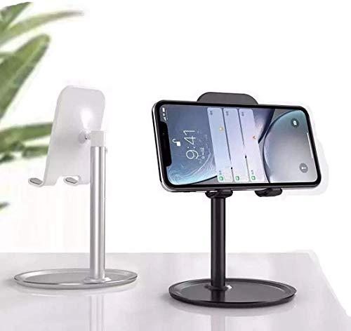 INVID Handy Ständer Tisch Handy Halter Handyhalterung Tisch Aufsteller tragbarer Handyständer kompatibel mit iPhone 12 11 Pro Max XS, Galaxy S20 S10, Huawei P30 Pro (Stativ-Halter) (schwarz)