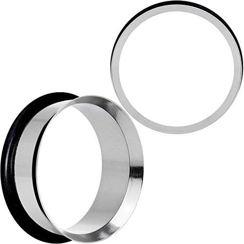 Body Candy 1 Unisex 2Pc Steel 8G Single Flare Tunnel Plug Earring Ear Plug Gauges Set of 2 25mm product image