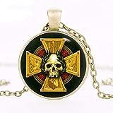VAWAA Empire Insignia Inspired Necklace, Warhammer Pendant, Warhammer Necklace, Art Gifts, para Ella, para Él