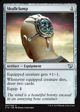 Magic The Gathering - Skullclamp (267/342) - Commander 2015