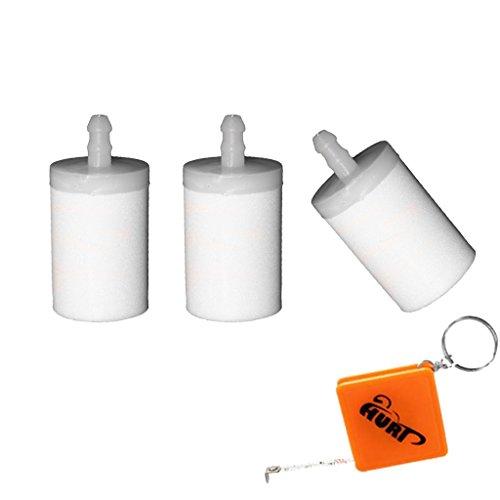 HURI Lot de 3 filtres à essence pour tronçonneuse Husqvarna 36 40 41 42 45 50 51 61 242 254 257 Filtre à carburant # 5034432-01
