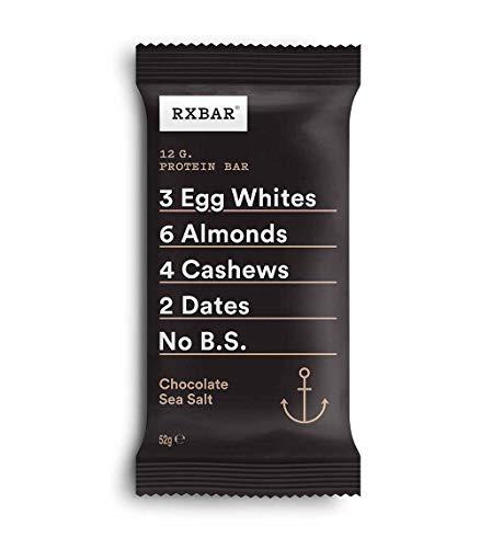 RXBAR, Protein Bar, Chocolate Sea Salt, Gluten Free, 12-Pack, Made in the UK
