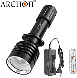 ARCHON W16U D10U Diving Flashlight CREE XM-L2 U2 max 800 lumen Zoomable Photographing torch handheld Underwater light (D10U Battery Charger)