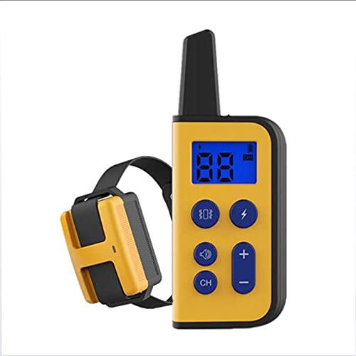 NUB Collares para Perros antiladridos con Control Remoto de 800 m, Dispositivos disuasivos de ladridos para Perros con Modos de Descarga eléctrica/vibración/Sonido para adiestramiento de Perros,Negro