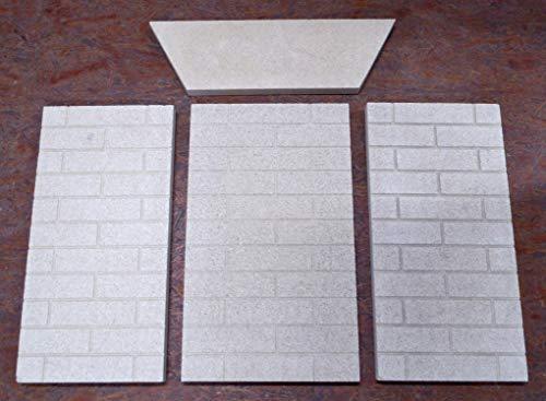 Feuerraumauskleidung für Faber Ilseborg Kaminöfen - Vermiculite - 4-teilig