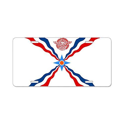 CafePress–Assyrische Flagge–Aluminium Nummernschild, vorne Nummernschild, Vanity Tag