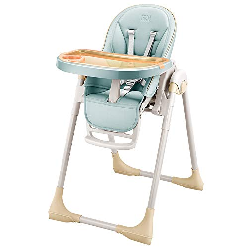SDWP Baby Esszimmerstuhl Kinder Esszimmerstuhl Multifunktionsklappbarer Tragbarer Kindersitz Esszimmer Essecke (Color : Green)