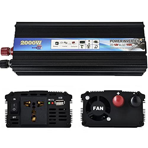 WZFANJIJ inversor de Corriente para automóvil Adaptador convertidor del Cargador USB sinusoidal modificada DC 12V / 24V a CA 220V,2000w-24v