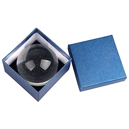 3.2 inch Acrylic Paperweight Magnifier Reading Magnifying Glass – Dome Magnifier/Paperweight Optical Half Ball Lens with…